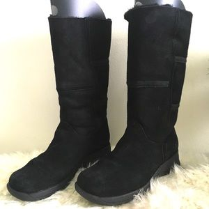 🆕 LA CANADIENNE Black Suede Mid-Calf BOOTS